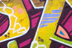 Kolorowy graffiti ściany zbliżenie - graffiti tło Obraz Stock