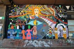 Kolorowy grafit blisko centrum Pristina zdjęcia royalty free