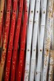 Kolorowy grunge bambusa ogrodzenie Fotografia Stock