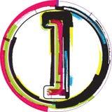 Kolorowy Grunge symbol Zdjęcie Stock