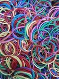 Kolorowy gumowy zespół Zdjęcia Royalty Free