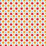 Kolorowy Gwiazdowy wektoru wzór Zdjęcie Royalty Free