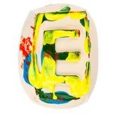 Kolorowy handmade biały glina list E Obraz Stock
