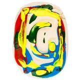 Kolorowy handmade biały glina list G Obraz Royalty Free