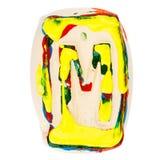 Kolorowy handmade biały glina list M Zdjęcia Stock