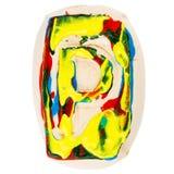 Kolorowy handmade biały glina list P Obrazy Royalty Free