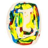 Kolorowy handmade biały glina list U Obraz Royalty Free