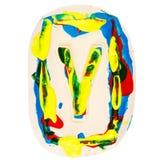 Kolorowy handmade biały glina list Y Obraz Stock
