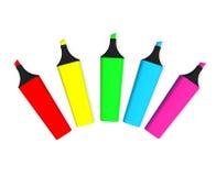 kolorowy highlighter Fotografia Stock