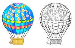 Kolorowy i czarny i biały wzoru balon Obrazy Stock