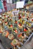 Kolorowy i piękny śmieszy, sklejony jedzenie Fotografia Stock