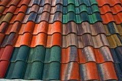 kolorowy ii dachowe płytki Obraz Stock