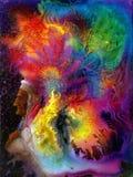 Kolorowy indyjski pióropusz Zdjęcia Royalty Free