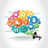 Kolorowy Infographic element Fotografia Royalty Free