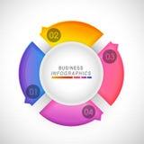 Kolorowy infographic okrąg dla biznesu Zdjęcie Royalty Free