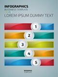 Kolorowy infographics lub strony internetowej układu szablon Zdjęcie Stock