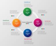 Kolorowy infographics szablon z krokami, opcje Fotografia Royalty Free