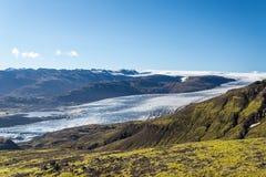 Kolorowy Islandzki gleczeru krajobraz fotografia royalty free