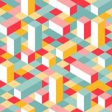 Kolorowy Isometric Bezszwowy wzór Zdjęcia Royalty Free