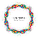 Kolorowy Jaskrawy Abstrakcjonistyczny Halftone projekta element Zdjęcia Stock