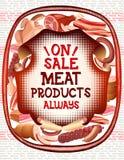 Kolorowy jedzenie rynek protestuje kolekcję Fotografia Royalty Free