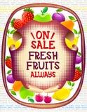 Kolorowy jedzenie rynek protestuje kolekcję Zdjęcie Stock
