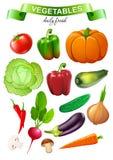 Kolorowy jedzenie rynek protestuje kolekcję Obraz Stock
