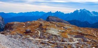 Kolorowy jesień krajobraz w Włoskich Alps, dolomit, Włochy, Europa zdjęcie stock