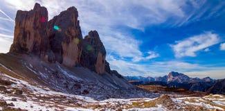 Kolorowy jesień krajobraz w Włoskich Alps, dolomit, Włochy, Europa obrazy stock
