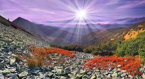 kolorowy jesień krajobraz Zdjęcia Royalty Free