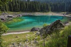Kolorowy jezioro w Alps Obraz Stock