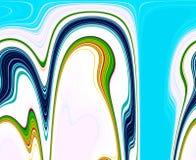 Kolorowy kółkowy pastelowy abstrakcjonistyczny tło i linie Zdjęcia Royalty Free