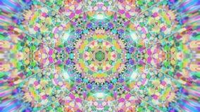 Kolorowy Kalejdoskopowy Wideo tło Kolorowi kalejdoskopowi wzory Zbliża wewnątrz tęcza koloru okręgu projekt Lub dla zdjęcie wideo
