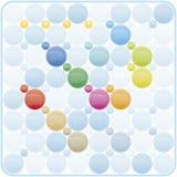 Kolorowy kalendarz dla roku 2017 Obrazy Stock