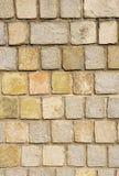 Kolorowy kamiennej ściany zbliżenie Zdjęcia Stock