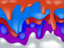 Kolorowy kapinos kropel przepływu puszka strumień przenosił Obrazy Royalty Free