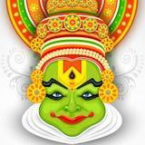 Kolorowy Kathakali Stawia czoło ilustracji