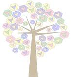 kolorowy kierowy drzewo Fotografia Royalty Free