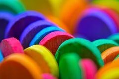 Kolorowy kija zbliżenie zdjęcie royalty free