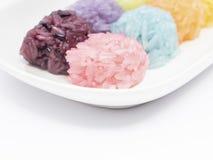 Kolorowy Kleisty Ryżowej piłki kształt Fotografia Royalty Free