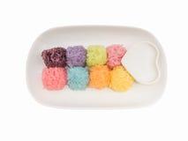 Kolorowy Kleisty Ryżowej piłki kształt Obrazy Royalty Free