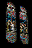 Kolorowy kościelny okno Fotografia Royalty Free