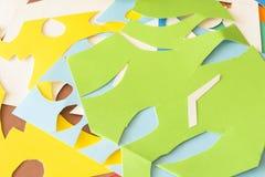 Kolorowy kolażu papier Obraz Royalty Free