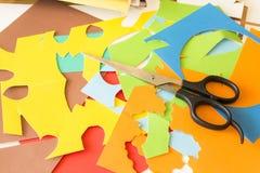 Kolorowy kolażu papier Obraz Stock