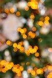 Kolorowy kolorów świateł bokeh plamy tło, Chrismas defocus drzewo Fotografia Stock