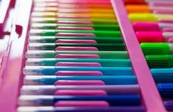 kolorowy kolorów pióra Fotografia Royalty Free