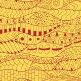 Kolorowy konturowy tło Ornamentacyjny etniczny wzór Zdjęcie Stock