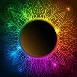 Kolorowy Koronkowy tło Zdjęcia Stock
