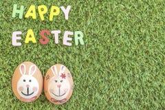 Kolorowy królik na Easter jajkach Zdjęcie Stock
