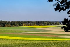 Kolorowy krajobraz wzdłuż Romantycznej drogi, Niemcy zdjęcie royalty free